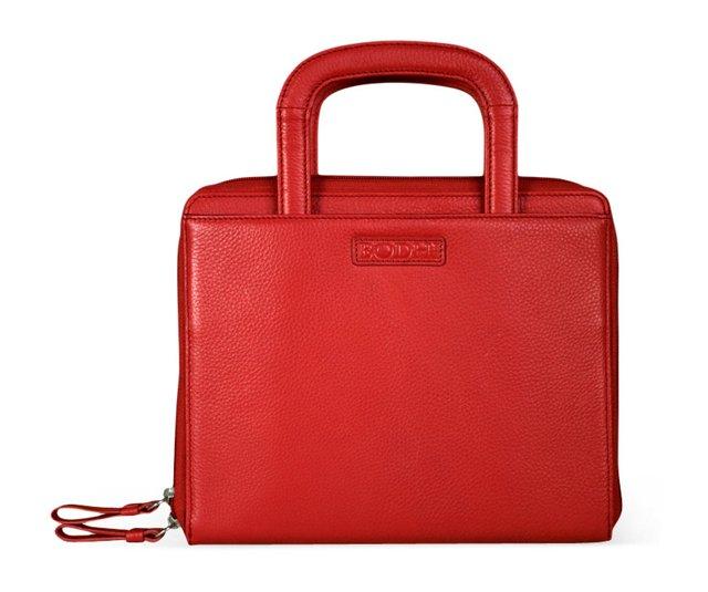 Leather iPad Portfolio, Chinese Red