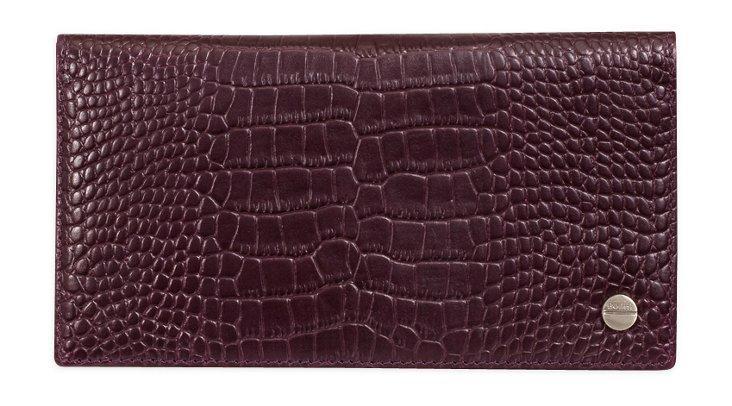 Long Slim Wallet, Deep Purple