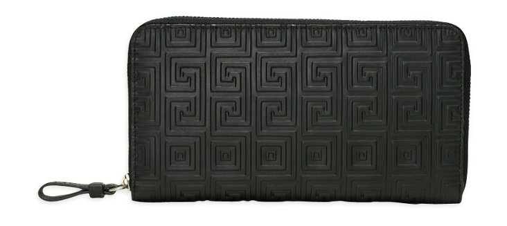 Geo Print Passport Wallet, Black