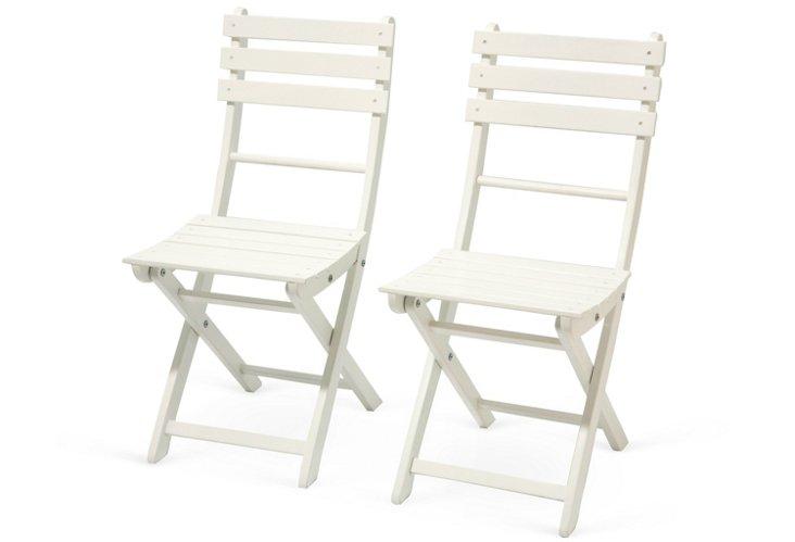 Santa Monica 2-Piece Chair Set, White