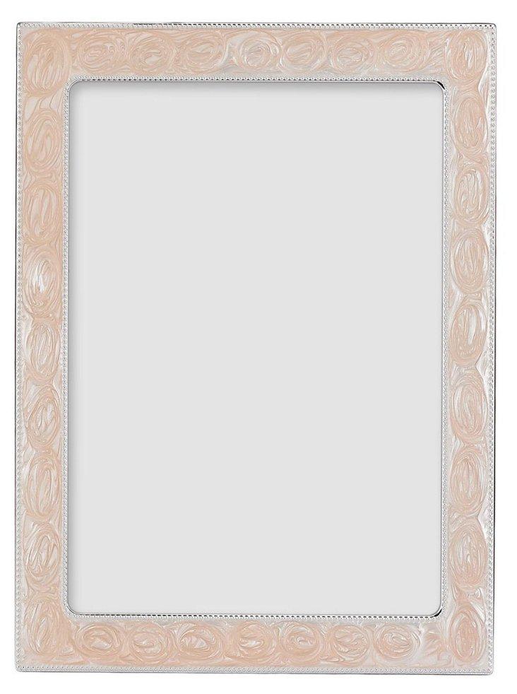 S/2 Pink Enamel Frames, 5x7
