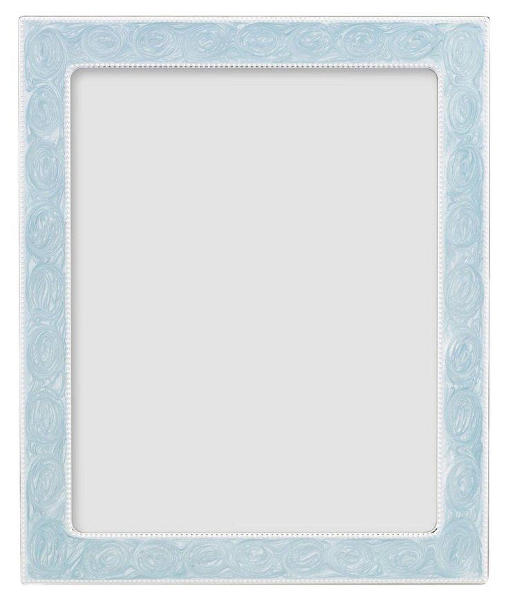 S/2 Blue Enamel Frames, 4x6