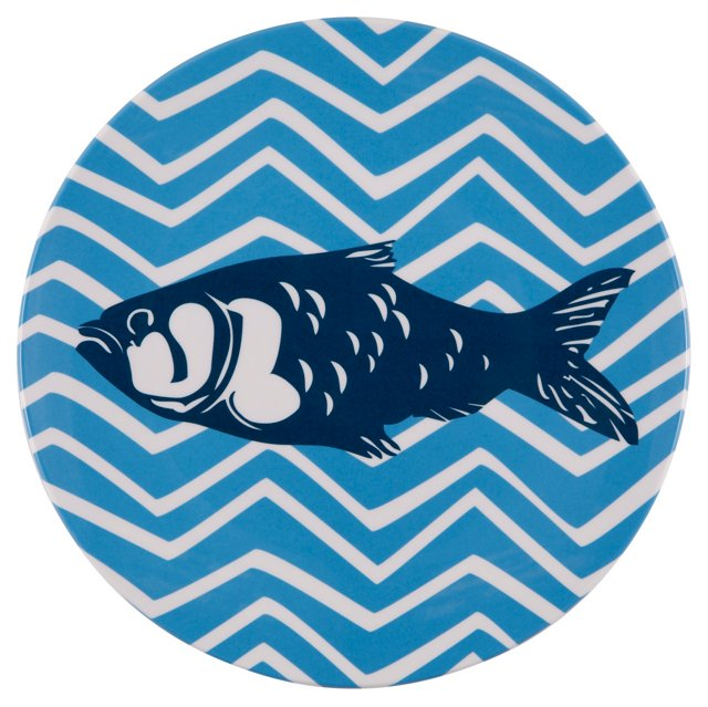 S/4 Melamine Fish Salad Plates
