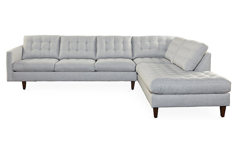 Anniston Sectional, Gray