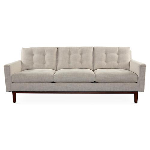 """Allan 86"""" Sofa, Almond Chenille"""