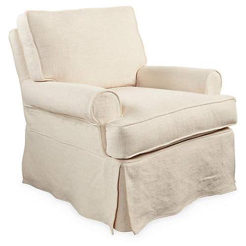 Cara Swivel Glider, Natural
