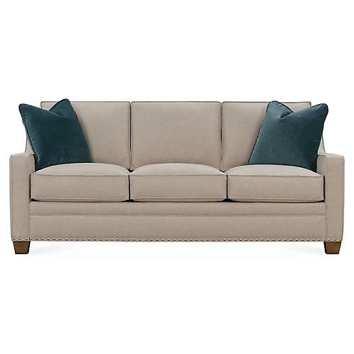 "Clarence 76"" Sleeper Sofa, Sand"