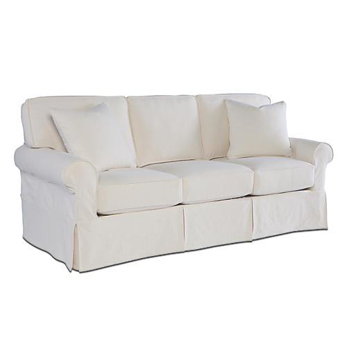 Ava Slipcover Sofa, Cream