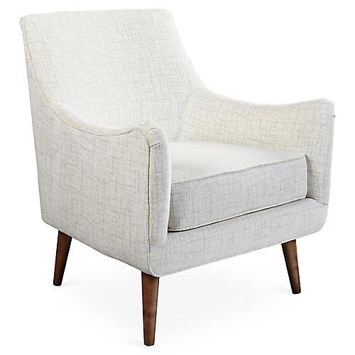 Oliver Accent Chair, Platinum