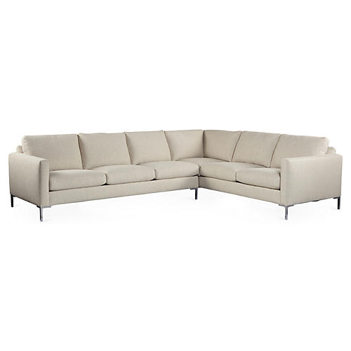 Amia Sectional, Cream