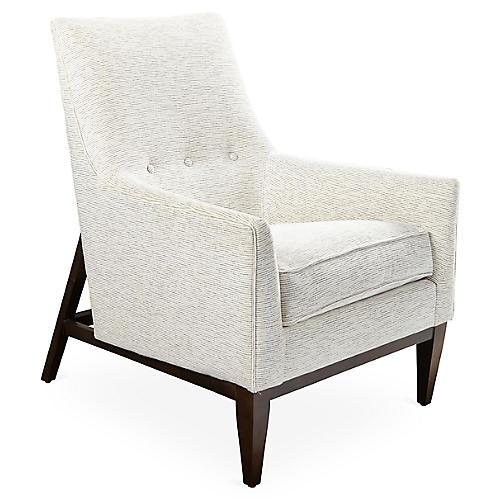 Lena Accent Chair, Bone White