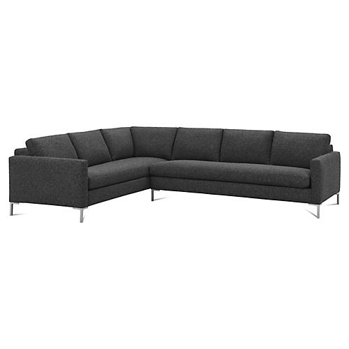 "Amia 90"" Sectional, Midnight"