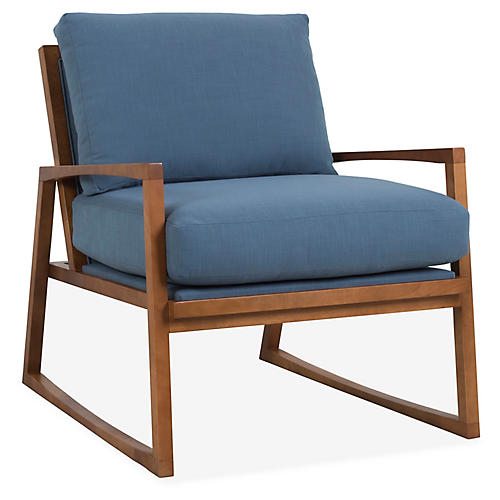 Markus Accent Chair, Indigo Crypton