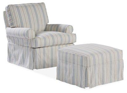 Awe Inspiring Sophie Swivel Chair Ottoman Set Federal Blue Cjindustries Chair Design For Home Cjindustriesco