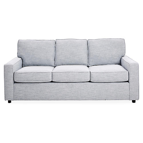 "Monaco 79"" Sofa, Ice Blue"
