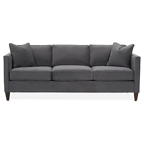 Cecilia Sleeper Sofa, Gray Velvet