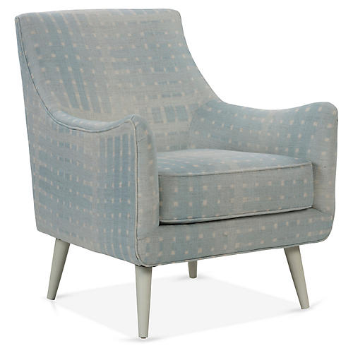 Oliver Accent Chair, Ice Blue