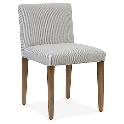 Clara Side Chair, Navy/Ivory