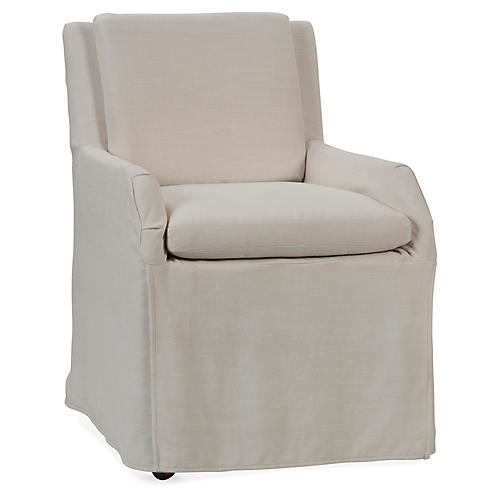 Paulette Side Chair, Champagne