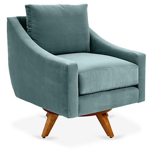 Nash Swivel Glider Chair, Sage Crypton