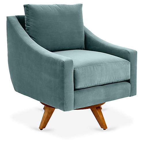 Nash Swivel Club Chair, Sage Crypton