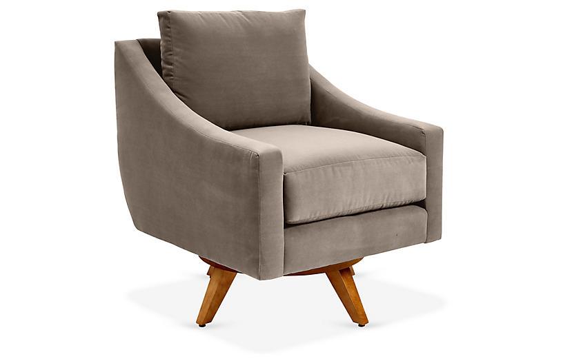 Nash Swivel Chair, Café Crypton