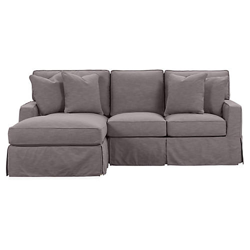 Rathel Left-Facing Sectional, Charcoal Crypton
