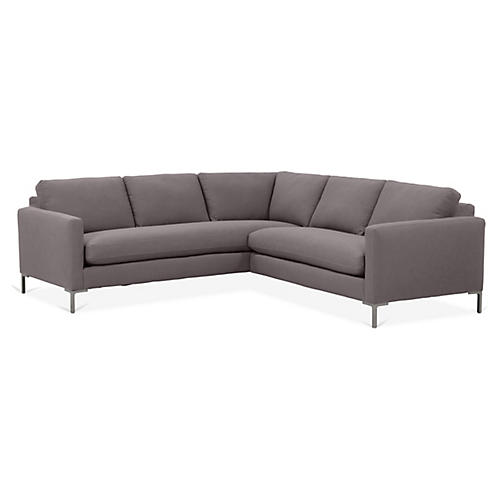 Amia Left-Facing Sectional, Charcoal Crypton