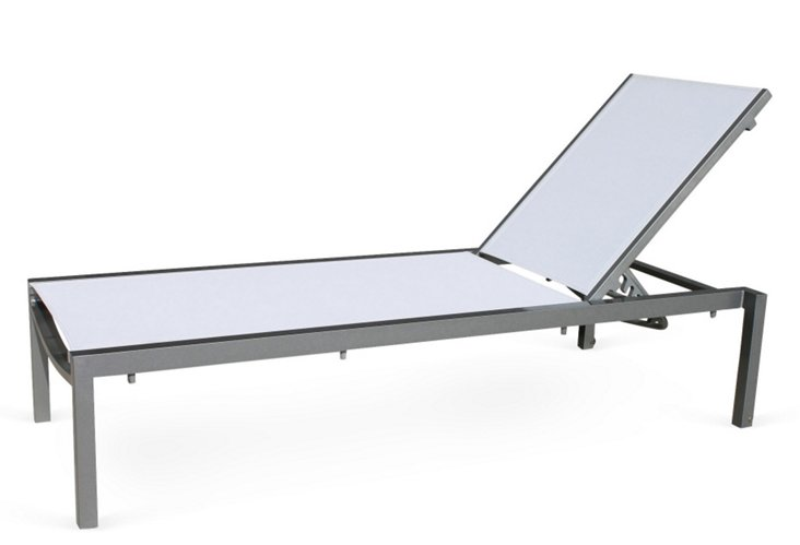 Fusion Sling Chaise, Gray/White