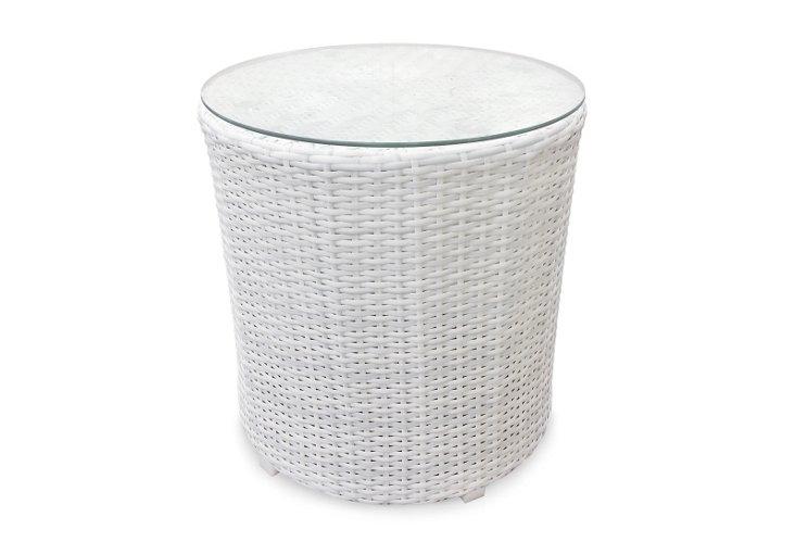 Triumph End Table, White