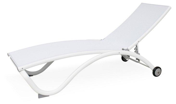 Pompano Chaise Longue, White