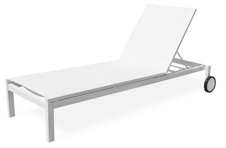 Fusion Chaise Longue, White