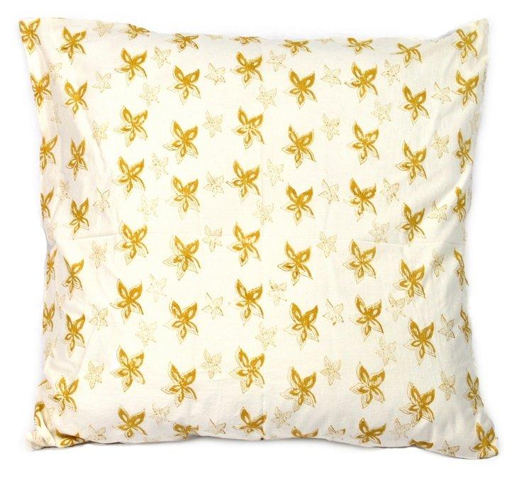 Canary Cushion Cover, Ochre