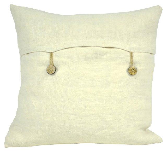 Kilim 18x18 Pillow, Cream
