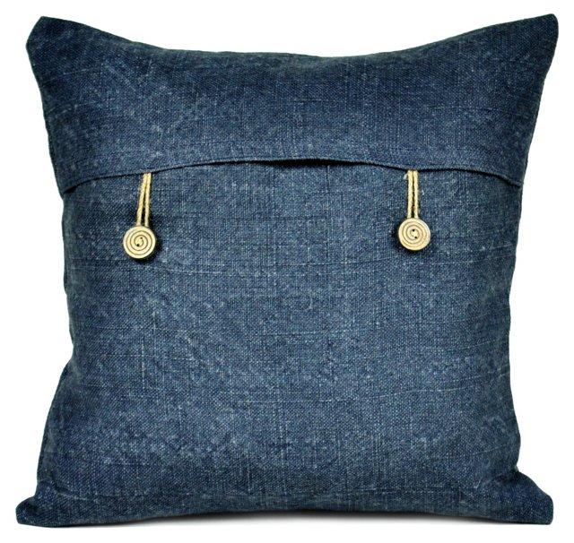 Kilim 18x18 Pillow, Indigo