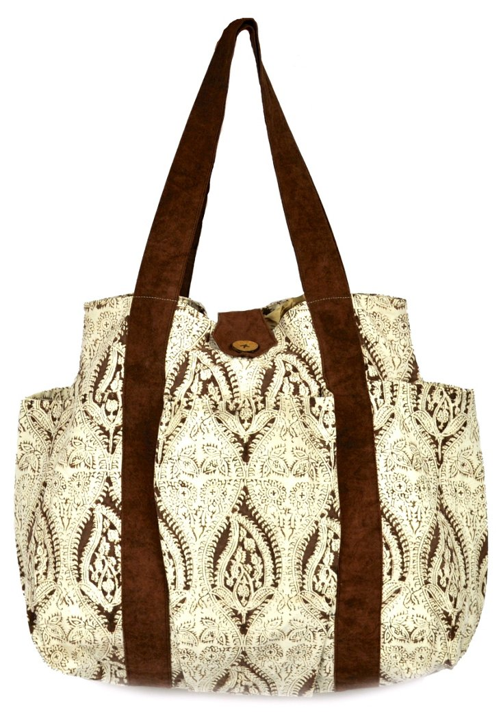 Chic Paisley Tote, Brown