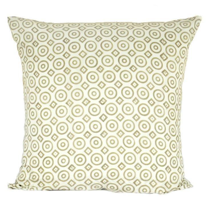 Gol-Gol 26x26 Cotton Pillow, Gray