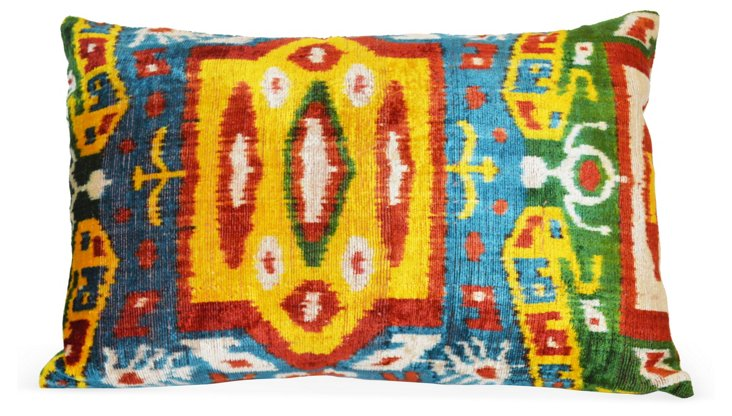 Mala 16x24 Silk-Blend Pillow, Multi