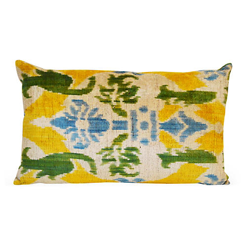 Vivid 16x24 Silk Pillow, Yellow