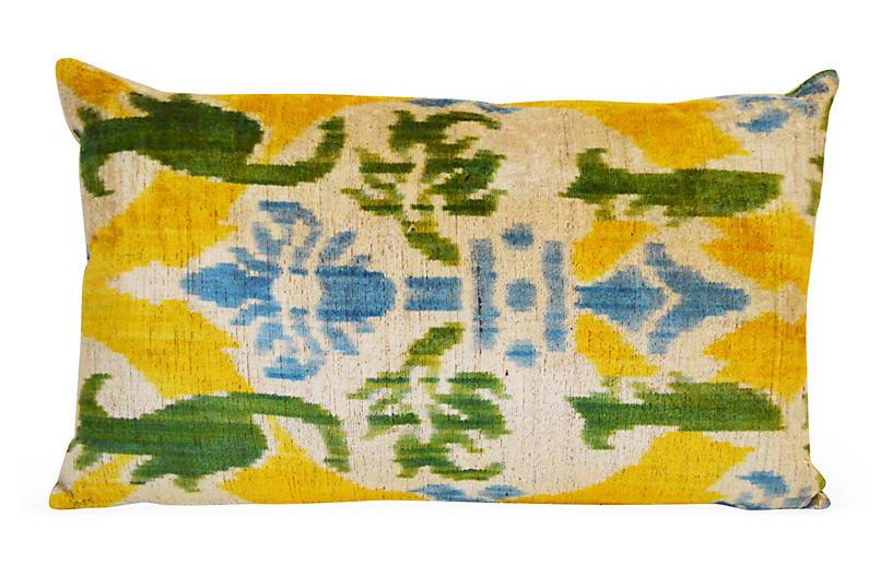 Vivid 16x24 Silk Pillow, Yellow