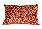 Nasha 16x24 Silk Velvet Pillow, Red