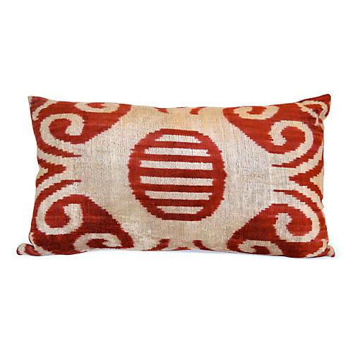 Stella 16x24 Silk Velvet Pillow, Red