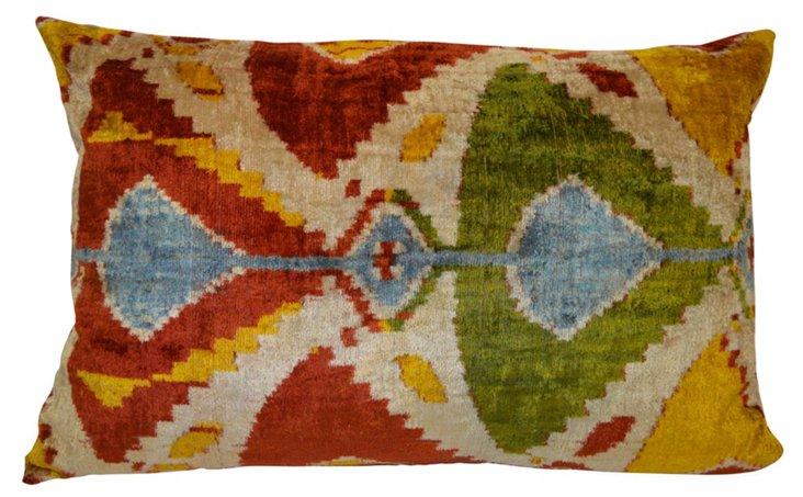 Irina 16x24 Silk Velvet Pillow, Multi