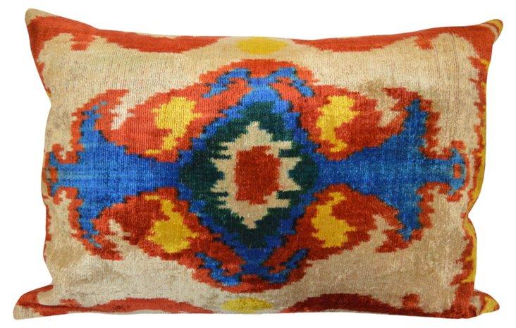 Aisha 16x24 Silk-Blend Pillow, Multi