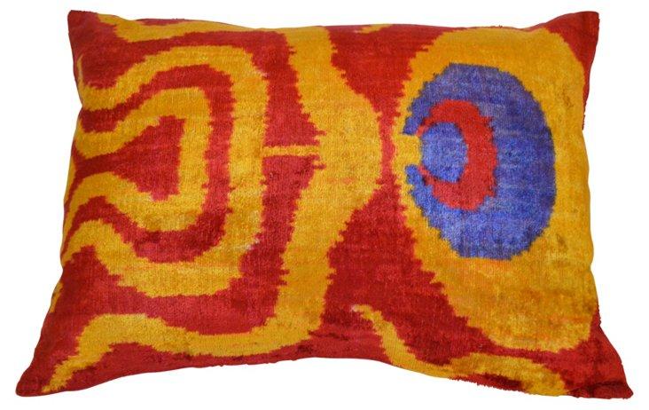 Zehra 16x24 Silk-Blended Pillow, Multi