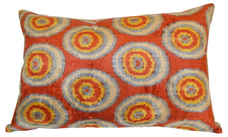 Susan 16x24 Silk-Blended Pillow, Multi