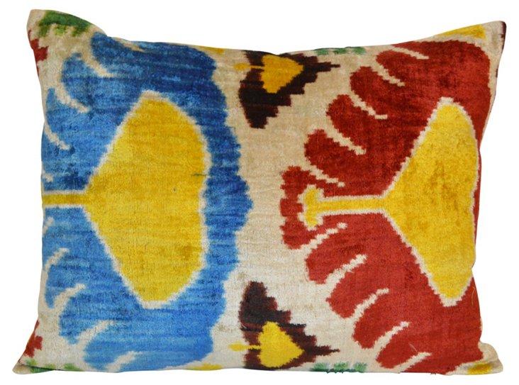 Nez 16x24 Silk-Blend Pillow, Multi