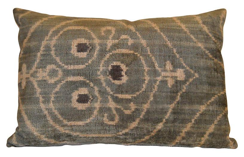 Milly 16x24 Silk Pillow, Aqua Green