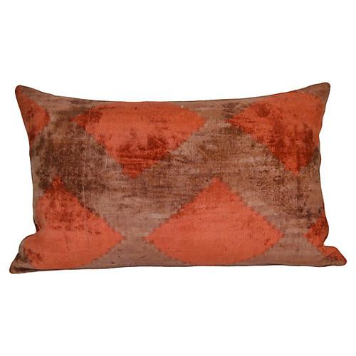 Delma 16x24 Silk Pillow, Red