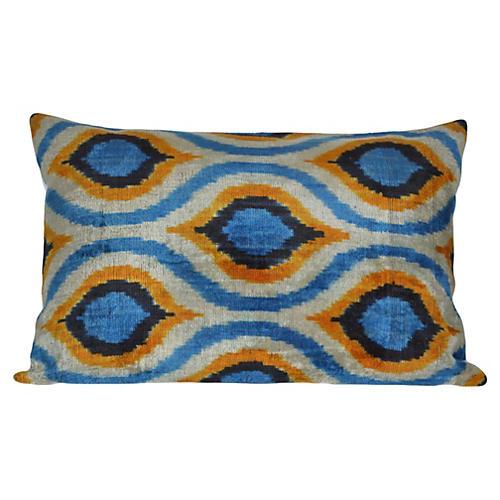 Alberta 16x24 Silk Pillow, Blue